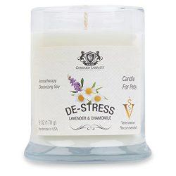 Lavender & Chamomile Aromatherapy Deodorizing Soy Candle For Pets, Pet Odor Eliminator  ...