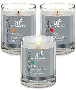 ArtNaturals Scented Aromatherapy Candle Set – (3 x 2 Oz) – Gift Set of Fragrance Soy Wax & ...
