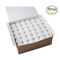 Votive Candle, Unscented White Wax, Box of 72, for Wedding, Birthday, Holiday & Home Decora ...