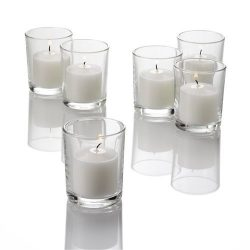 Set of 72 Richland Votive Candles and 72 Eastland Votive Holders