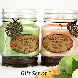 Scented Jar Candles Fruity Fragrances Mimosa – Grapefruit Citrus – and Champagne App ...