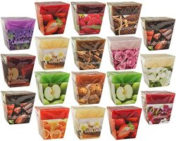 All2shop Scented Votive Candles Set of 18 Assorted Pure Scents for Relaxation & Aromatherap ...