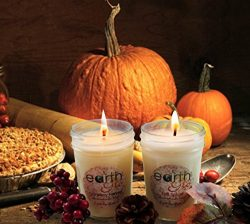 EarthGlo Winter Candles – Scented Soy Candle Set In Gift Box – Fall Spice And Cranbe ...