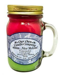 Mmm… Nice Melons! Watermelon, Cantaloupe, Honeydew Melon Scented 13 Ounce Mason Jar Candle ...