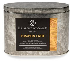 Chesapeake Bay Candle Hertitage Collection Tin with Double Wick Scented Candle, Pumpkin Latte