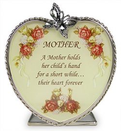 Mom Gifts – Glass Heart Candle Holder – A Mother Holds Her Child's Hand for a  ...
