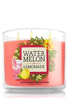 Bath and Body Works 14.5 Oz 3 Wick Candle Watermelon Lemonade