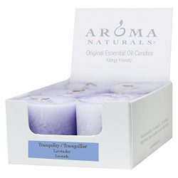 Aroma Naturals Votive Candles with Lavender, Tranquility, 6 Count