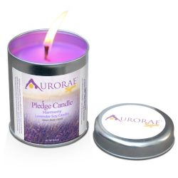 Aurorae 6.8 Ounce Lavender Scented Soy Aromatherapy Candle