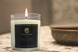 NaturoHealth Grapefruit Scented Soy Candle With Organic Soy Wax Aromatherapy Candles