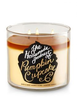 Bath & Body Works The Homemade Goodness Of Pumpkin Cupcake Scented 3 Wick 14.5 Ounce Candle