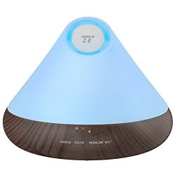 TaoTronics Black Essential Oil Diffuser, 300ml Aromatherapy Diffuser with Triple Mist Outlet ( N ...
