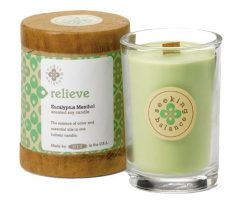 Root Scented Seeking Balance Relieve Candle, Eucalyptus Menthol