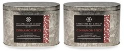 Chesapeake Bay Candle Heritage Collection Tin with Double Wick Scented Candle,  Cinnamon Spice ( ...