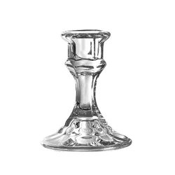 Libbey 4″ Candlestick Holder, Clear