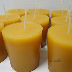 BCandle 100% Pure Beeswax 15-hour Votives Candles Organic Hand Made (6)