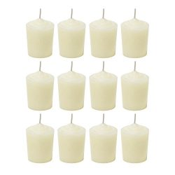Ivory Unscented 15 Hours Votive Candles Pack of 12