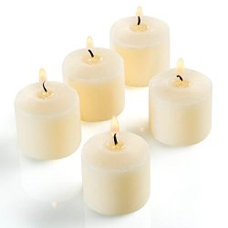 Candle Charisma Votive Candles Bulk Ivory Unscented 10 Hour Burn – Soy Wax Blend – S ...