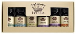 Fabulous Frannie High-Quality 6-Pack Aromatherapy Basic Sampler Gift Set of 100% Pure Therapeuti ...