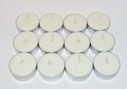 12-Pack of French Vanilla Spice Scented Soy Tealight Candles (Dye Free)