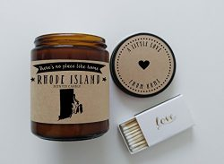 Rhode Island Scented Candle Missing Home Homesick Gift Moving Gift New Home Gift No Place Like H ...