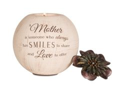 Pavilion Gift Company 19006 Light Your Way Terra Cotta Candle Holder, Mother, 5-Inch