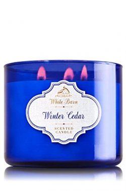 Bath & Body Works White Barn 3-Wick Candle in Winter Cedar