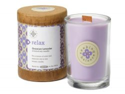 Root Scented Seeking Balance Relax Candle, Geranium Lavender