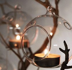 3″ Hanging Glass Globe Ball Candle Holders, Plant Glass Terrariums | Pack of 6 2 day sale only
