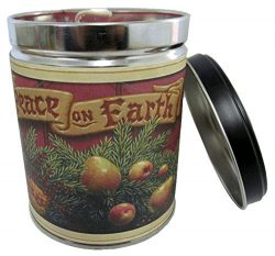 Cranberry Orange Spice Scented Candle in 13 oz Tin with Peace on Earth Label – Made in the ...