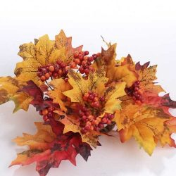 Factory Direct Craft® Package of 4 Vibrant Fall Inspired Artificial Silk Fall Leaf Candle Rings  ...