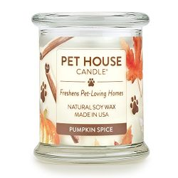 Pet House Candle in 15 Fragrances – All Natural Soy Wax Candle and Pet Odor Eliminator &#8 ...