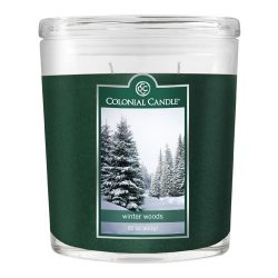 Colonial Candle 22-Ounce Scented Oval Jar Candle, Winter Woods