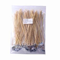 EricX Light Organic Hemp Candle Wicks, 100 Piece Low Smoke 8″ Pre-Waxed by 100% Natural Be ...
