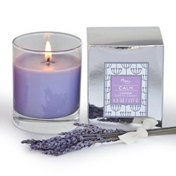 Manu Home CALM Lavender Scented Aromatherapy Candle ~ Made with Quality Aromatherapy Oils for Re ...