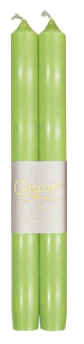 Entertaining with Caspari 10-Inch Taper Dripless, Smokeless, Unscented Candles, Spring Green, Se ...