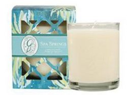 Spa Springs Signature Glass Candle by Greenleaf, 9.5 oz.