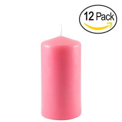 Pink Pillar Candle for Mother's Day, Wedding, Birthday, Holiday & Home Decoration by R ...