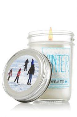 Bath & Body Works Winter Scent Snowday 2013 Mason Jar Candle 6oz