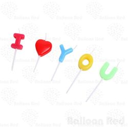 I Love You Letters, I Heart YOU Birthday candles set for Birthday, Anniversary, Valentine' ...