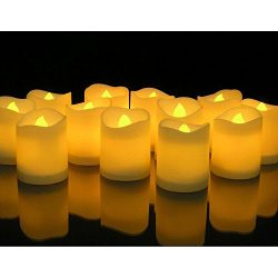 Novelty Place [Longest Lasting] Battery Operated Flickering Flameless LED Votive Candles (Pack o ...