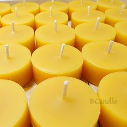 BCandle 100% Pure Beeswax Tea Lights Candles Organic Hand Made REFILLS (no cup) (6)