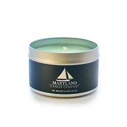 Maryland Candle Company All Natural Soy Wax Aromatherapy Scented Candle, Eucalyptus Spearmint, 5.4oz