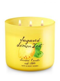Bath & Body Works Candle 3 Wick 14.5 Ounce 2017 Edition Sugared Lemon Zest