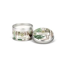 Michel Design Works Scented Soy Wax Candle, Winter Woods, Travel Tin Size