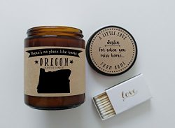 Oregon Scented Candle Missing Home Homesick Gift Moving Gift New Home Gift No Place Like Home St ...