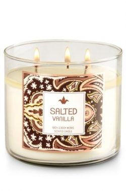 Bath & Body Works White Barn SALTED VANILLA 3-Wick Scented Candle