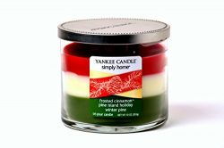 Yankee Candle Holiday Trio Layered Tumbler Candle. Frosted Cinnamon, Pine Island Holiday and Win ...