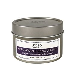 Himalayan Spring Juniper Travel Tin 4oz candle by KOBO