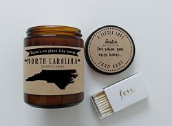 North Carolina Scented Candle Missing Home Homesick Gift Moving Gift New Home No Place Like Home ...